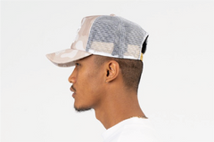 SAN FRANCISCO-FOAM FRONT MESH TRUCKER - STONE/WHITE