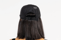 SANTA MONICA-5 PANEL CAP IN NYLON - BLACK/BLACK