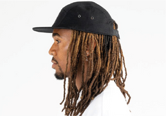 CALIFORNIA-5 PANEL CAP IN RIPSTOP - BLACK/REFLECTIVE