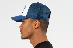 CHICAGO-FOAM FRONT MESH TRUCKER - NAVY/WHITE