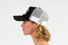 DENVER-FOAM FRONT MESH TRUCKER - BLACK/WHITE