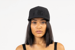 DENVER-FOAM FRONT MESH TRUCKER - BLACK/BLACK
