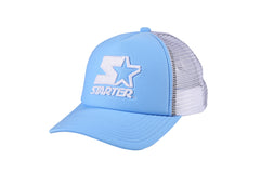 DENVER-FOAM FRONT MESH TRUCKER - SKY BLUE/WHITE