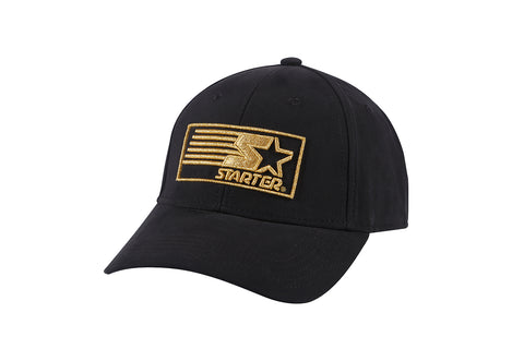MIAMI-6 PANEL CAP - BLACK/GOLD