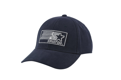 MIAMI-6 PANEL CAP - NAVY/SILVER