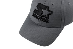 NEW YORK-6 PANEL CAP IN RIPSTOP - GREY/BLACK