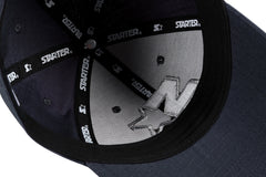 NEW YORK-6 PANEL CAP IN RIPSTOP - NAVY/SILVER