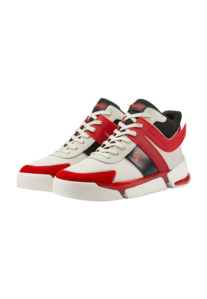 NU-BASKET HIGH - LT GREY/RED (pre-order)