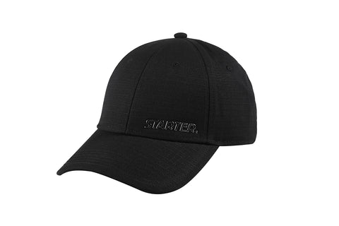 SAN DIEGO-6 PANEL CAP IN RIPSTOP - BLACK/PEWTER
