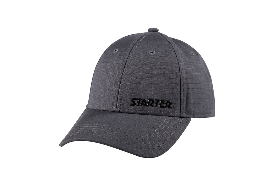 SAN DIEGO-6 PANEL CAP IN RIPSTOP - GREY/BLACK