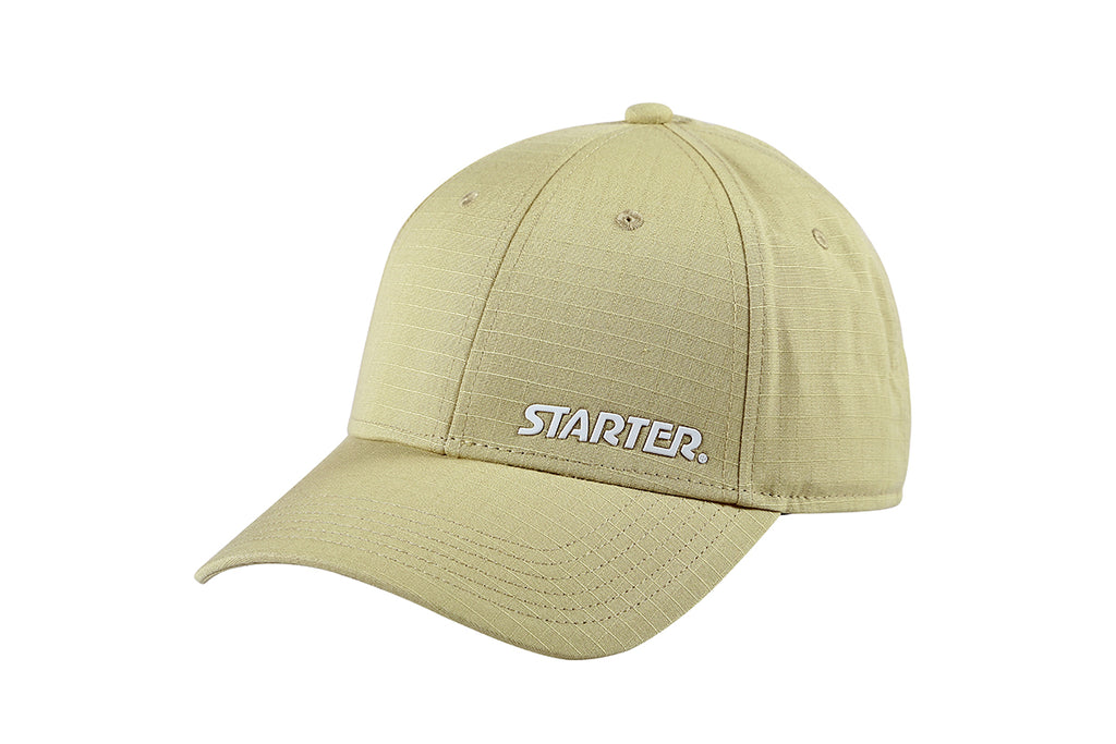 SAN DIEGO-6 PANEL CAP IN RIPSTOP - STONE/WHITE