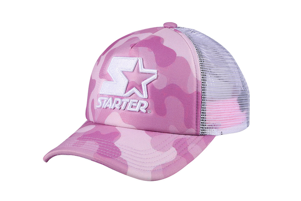 SAN FRANCISCO-FOAM FRONT MESH TRUCKER - PINK/WHITE
