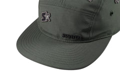 SANTA MONICA-5 PANEL CAP IN NYLON - KHAKI/BLACK