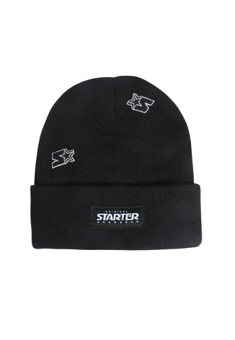 ALASKA KNITTED BEANIE HAT - BLACK/BLACK