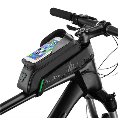 Waterproof Bicycle Tube Bag with Phone Holder