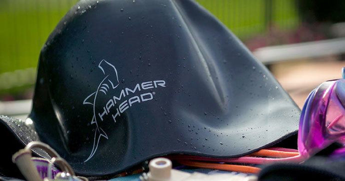 HAMMER HEAD® SWIM CAP, THE FIRST PRO-ACTIVE DEFENSE FOR SWIMMERS