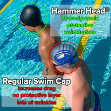Load image into Gallery viewer, Hammer Head® Swim Cap w/Abbie Fish Logo