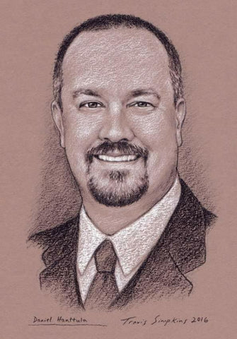 Drawing of Daniel Hanttula by Travis Simpkins