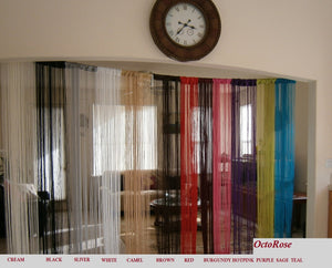 Octorose Sexy String Thread Fringe Curtain Panel 40x110 Inch for Home or store Decor, Door divider, Party ,  Showroom or Event