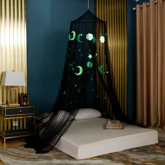 OctoRose Glow in The Dark Moon & Star Bed Canopy Mosquito Net Fits Crib, Twin, Full, Queen, King and Calking. 23