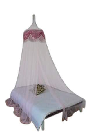 OctoRose Princess Bed Canopy Mosquito Net for Bed, Dressing Room, Out Door Events (Lt.Pink)