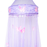OctoRose Round Hoop Butterfly Bed Canopy Mosquito Net in Large Size Elegant Curtains Screen Netting fit All Size Bed.