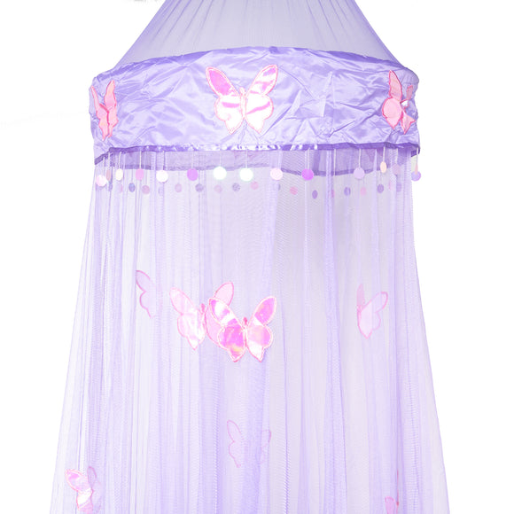OctoRose Round Hoop Butterfly Bed Canopy Mosquito Net in Large Size Elegant Curtains Screen Netting fit All Size Bed