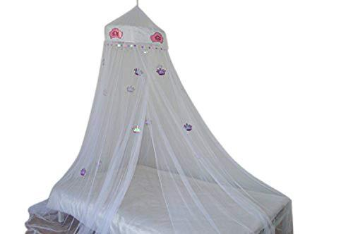 OctoRose Princess Crown Bed canopy mosquito net for crib, twin, full, queen or king size (Green)