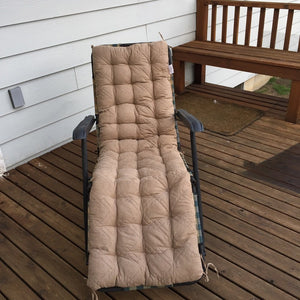 O'fit Quilted Micro Suede Bench Long Chair Cushion Pads
