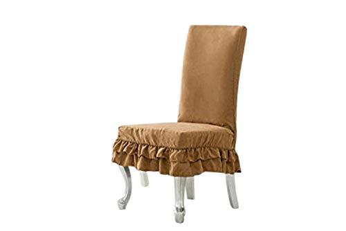 Octorose Soft Micro Suede Shortly Dining Chair Covers (Camel)