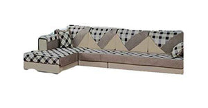 "Ofit Soft Brush Microfiber Quilted Sectional Deep Seats Sofa Slipcover Pad Furniture Protector Sold By Piece Rather Than Set (Lace-grey, 35x82"")"