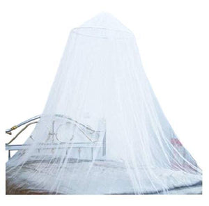 OctoRose White Hoop Bed Canopy Mosquito Net Fit Crib, Twin, Full, Queen, King