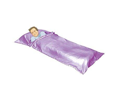 OctoRose Royalty Large Size Silky Satin Cocoon Sack Travel and Camping Sheet Sleeping Bag Liner (SLG-95x42, Lavender)