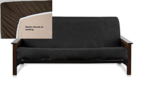OctoRose Full Size Royal Elastic Around on Backing Bonded Micro Suede Easy Fit Fitted Futon Cover (Royal Blue)