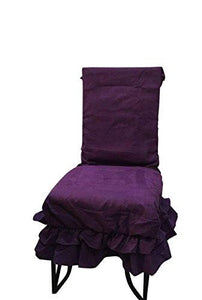 Octorose  Soft Micro Suede Shortly Dining Chair Covers (Purple)
