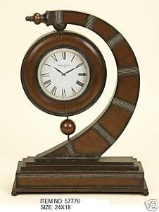 OctoRose Wrought Iron Metal Sculpture Clock Decor Art 24x18 Inches 776