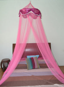 OctoRose  ® Princess Sequnin Bed Canopy Mosquito Net for Bed, Dressing Room, Out Door Events