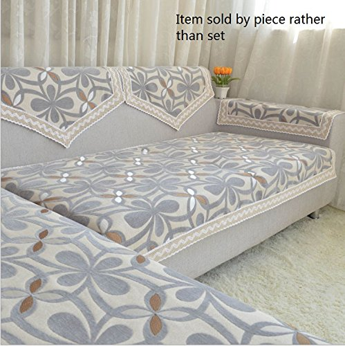 Octorose  ® Chenille Lace Sectional Sofa Throw Covers Furniture Protector Sold By Piece Rather Than Set