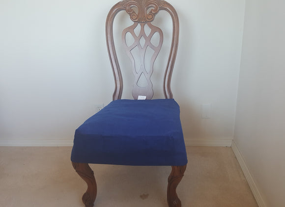 Set of Two OctoRose Classic Micro Suede  Chair Covers, Chair Seat Covers, Dining Chair Protector