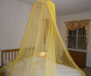 OctoRose ® Round Hoop Bed Canopy Mosquito Net Fit Crib, Twin, Full, Queen, King