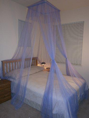 Octorose ® Square Top Bed Canopy Mosquito Insect Net Fit All Size Bed from Crib, Twin, Queen, King and Cal King (Purple)