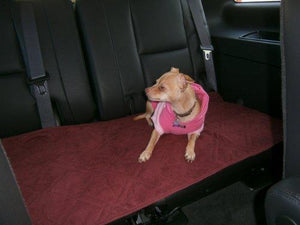 OctoRose  Quilted 20x54 Bonded or Classic Micro Suede Pets Car Seat Pad Protector (Wine/Burgundy)