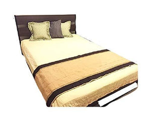 OctoRose Quilted Camel V2 26x96 Quilted Micro Suede Pets Runner for King and Cal King Bed