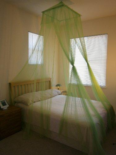 Octorose ® Square Top Bed Canopy Mosquito Insect Net Fit All Size Bed from Crib, Twin, Queen, King and Cal King (Lime Green)