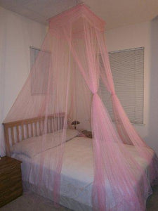 Octorose ® Square Top Bed Canopy Mosquito Insect Net Fit All Size Bed from Crib, Twin, Queen, King and Cal King (Pink)