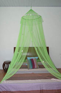 OctoRose  Daisies Bed Canopy Mosquito Net Bed, Dressing Room, Out Door Events (lime green)