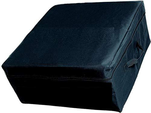 OctoRose Oxford Black Folding Mattress Storage Bag Heavy Duty Carry Case for Tri-Fold Guest Bed Mattress 54L x 25W x 12H inch (Full)