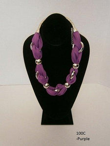 Fashion Fabric and Costumes Jewelry Scarf Necklace More Color and Style (100C-purple)