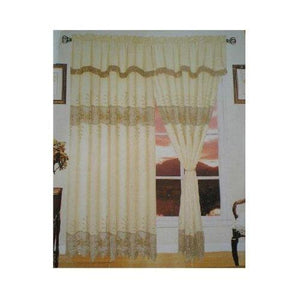 Elegant embroidery based half transparency windows curtain.