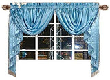 OctoRose  Royalty Custom Waterfall Window Valance and Swags & Tails  132x47""
